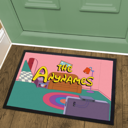 The Simpsons Couch Gag Personalised Welcome Mat Doormat